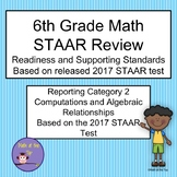 6th Grade Math STAAR Reporting Category 2 Task/Scoot Cards