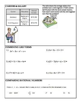 6th Grade Math End of Year Review