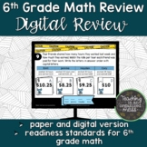 6th Grade Math STAAR Review Digital and Paper Options Test Review