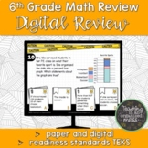 6th Grade Math STAAR Review-Readiness Standards-Digital and Paper