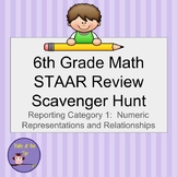 6th Grade Math STAAR Review Scavenger Hunt