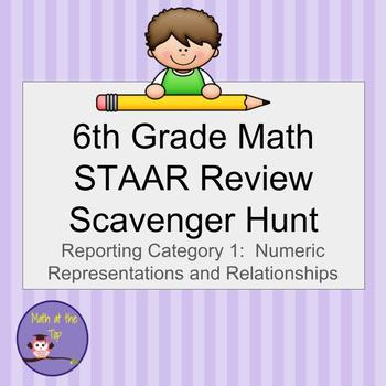6th Grade Math STAAR Review Scavenger Hunt
