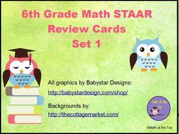 6th Grade Math STAAR Review Scoot Cards