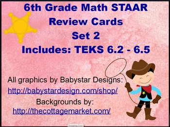 6th Grade Math Staar Review Scoot Cards Set 2 By Math At