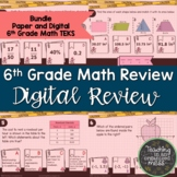 6th Grade Math STAAR Review for Readiness TEKS Bundle-Pape