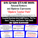 "6th Grade STAAR Math Algebra ""Rational Numbers & Expressions"" Teacher Pack"
