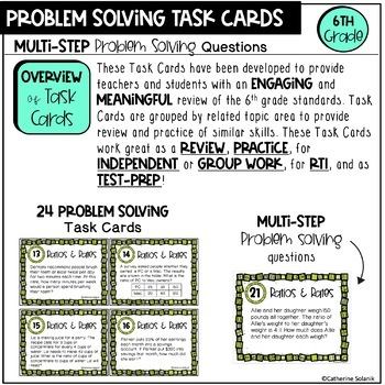 6th Grade Math STAAR Task Cards {Ratios and Rates} TEKS 6.4A 6.4B 6.4C 6.4D