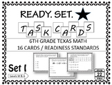 6th Grade Math STAAR Task Cards (Readiness TEKS)