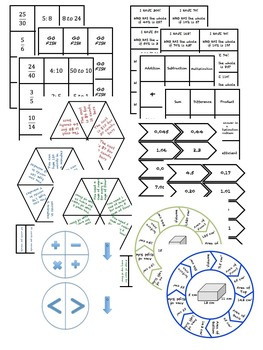 6th Grade Math SUPER BUNDLE -Stations, Choice Boards, Vocab Diagrams, Bingo