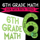 6th Grade Math Sign Classroom Decor