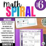 6th Grade  Math Spiral Review (CCSS-aligned) - First Semester