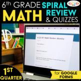 6th Grade Math Spiral Review | Google Classroom Distance L