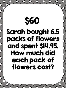 6th Grade Math Spiral Review (Word Problem) Test Prep Scavenger Hunt