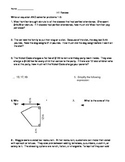 6th Grade Math Spiral Reviews Bundle H