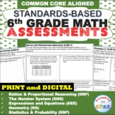 6th Grade Math Standards Based Assessments BUNDLE  Common Core - END OF YEAR