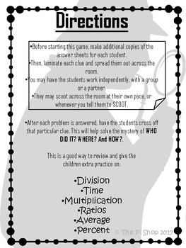 6th Grade Math Standards Cards