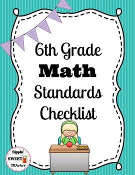 6th Grade Math Standards Checklist (Common Core)