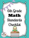 6th Grade Math Standards Checklist (Common Core)