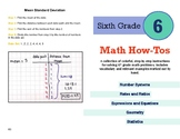 "6th Grade Math Standards ""How-To's"" - Booklet Version"