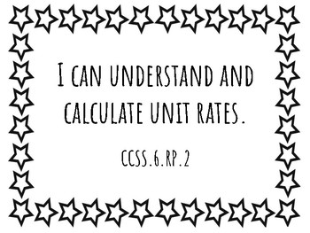 6th Grade Math Standards Posters