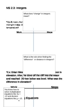 6th Grade Math Standards Review Booklet