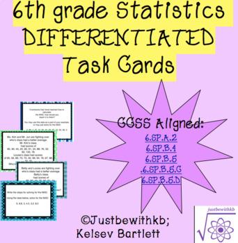 6th Grade Math Statistics Cards