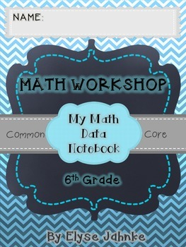 6th Grade Math Student Data Notebook {COMMON CORE}