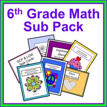 6th Grade Math Sub Pack