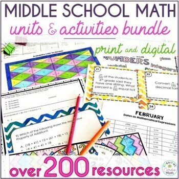 Grade 6-7 Math Growing Bundle