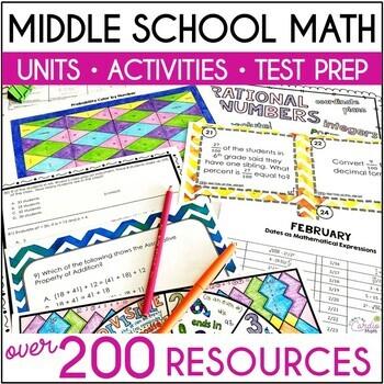 Grade 6-7 Math Growing Bundle