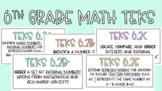 6th Grade Math TEKS