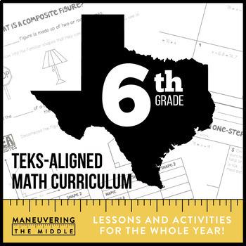 6th Grade Math TEKS Bundle
