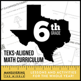 6th Grade Math TEKS Curriculum Bundle