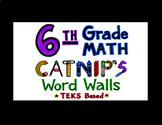 6th Grade Math TEKS Flash Cards
