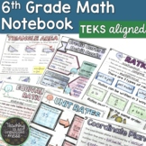 6th Grade Math TEKS Interactive Notebook Growing BUNDLE
