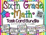 6th Grade Math Task Card Bundle **ALL COMMON CORE DOMAINS**