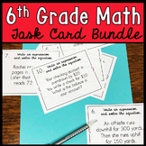 6th Grade Math Task Card Bundle