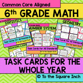6th Grade Math Task Cards Bundle