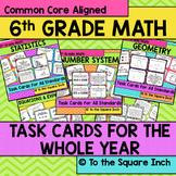6th Grade Math Task Cards Bundle