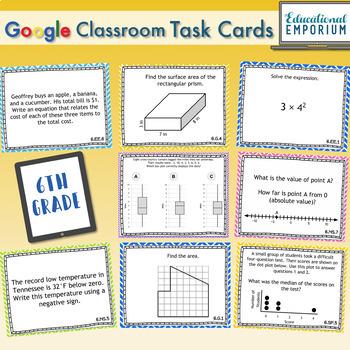 6th Grade Math Task Cards Digital + Paper MEGA Bundle: Google + PDF Task Cards