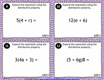 6th Grade Math Task Cards MEGA Bundle