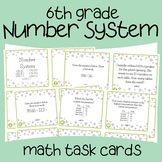 Number System Math Task Cards (6th Grade)