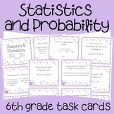 Statistics & Probability Math Task Cards (6th Grade)