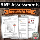 6th Grade Math Ratios and Proportional Relationships Assessments Common Core