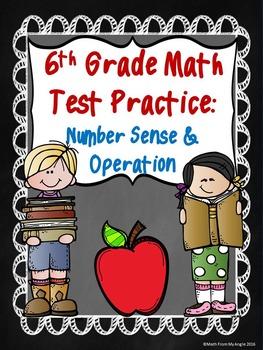 6th Grade Math Test Practice:  Number Sense & Operation