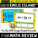 6th Grade Math Test Prep Game | Digital Escape Room | Goog