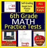 6th Grade Math Test Prep Google Classroom Spiral Review Distance Learning