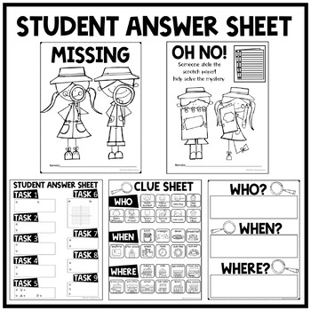 6th Grade Math Test Prep Task Card Activity Solve the Mystery: Scratch Paper