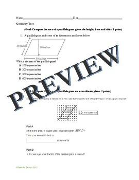 6th Grade Math Test with Goals Bundle