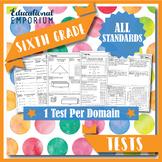 6th Grade Math Tests MEGA Bundle {Common-Core Assessments}